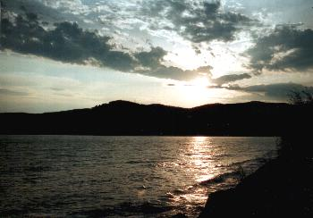 Baikal at sunset