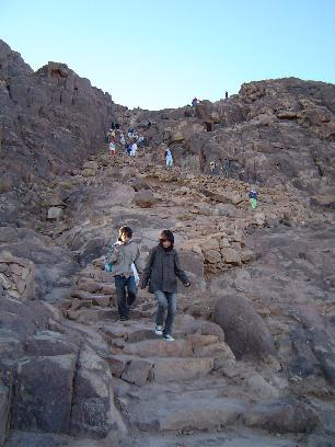 The stairs on mount Sinai